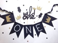 Wild One Birthday Decor  Cake Topper  Cupcake by glitterpaperscissors
