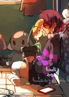 """houdidesu: """" """"Mourning. """" This started out as """"hey I kinda want to draw Frisk's room"""" to """"W HY In GOD'S NAME"""" Speedpaint, may be 3hrs idk """""""