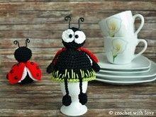 Crochet Patterns Needles Egg warmer – Egg warmer ladybug, crochet pattern, PDF file – a design … Crochet Egg Cozy, Easter Crochet, Crochet Gifts, Crochet Toys, Crochet Chart, Crochet Patterns, Big Easter Eggs, Mug Cozy Pattern, Vintage Egg Cups