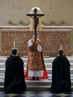 'We adore You, O Christ, and we praise You, because by Your holy Cross You have redeemed the world.'