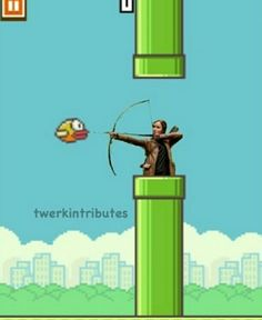 Katniss and the Flappy Bird