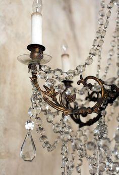 Exquisite Antique European Brass Chandelier Six Arm