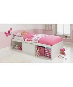 Leo Single Cabin Bed Frame - White.