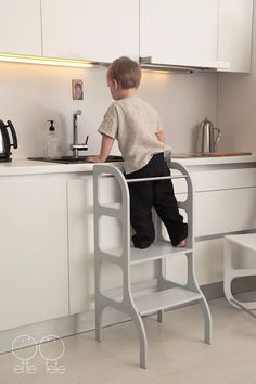 Little helper tower toddler kitchen step stool Montessori