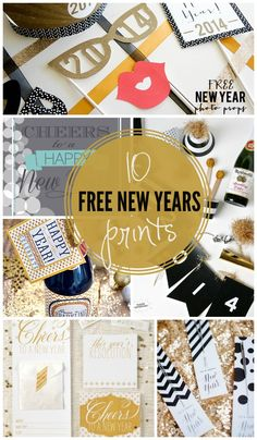 10 FREE New Years Printables to help you ring in the new year! { lilluna.com } #newyears