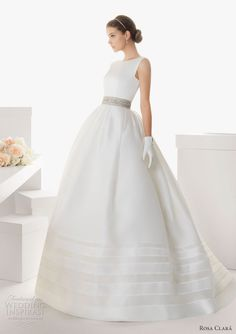 rosa clara 2013 belfast sleevless ball gown wedding dress