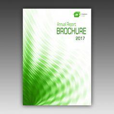 Plantilla de folleto verde Psd Gratis                              …