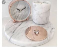 Obsessed with our Marble & Rose Gold range www.florenceandha… Obsessed with our Marble & Rose Gold range www. Rose Gold Rooms, Rose Gold Decor, Room Decor Bedroom Rose Gold, Marble Room Decor, Rose Gold Bathroom Set, Gold Home Decor, Diy Bedroom, Living Room Decor, Deco Rose