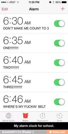 Haha how every alarm should be!!!