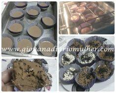 Cupcakes Dukan - ovos, iogurte, leite em pó, farelos, cacau