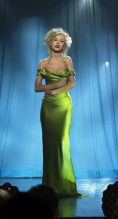 Love this green dress from 'Burlesque' - designer Michael Kaplan