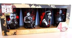 The Walking Dead AMC Black Glass PINT GLASSES 4 pack NEW