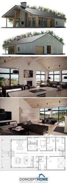 Modular Home Plan, Shipping container house plan, prefab house design, interior deco