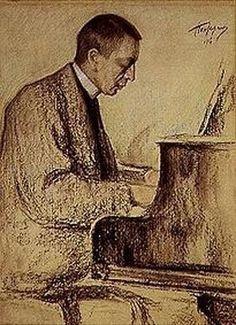 Leonid Ossipowitsch Pasternak: Bildnis des Komponisten S.Rachmaninow. 1916.