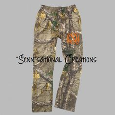 Realtree Camouflage Pants, Camo Pajama Pants, Monogrammed Camo Pants, Camouflage Pajamas, Gifts for Her, Camo for Him, Flannel Camouflage by SennCreations on Etsy