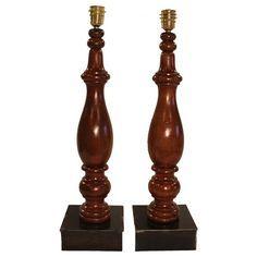 taller artco antiguas patas torneadas de mesa de billar convertidas en lmparas de madera
