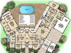 Plan W36238TX: Traditional, Luxury, Hill Country, Country, Premium Collection, Corner Lot, Photo Gallery House Plans & Home Designs