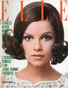 Geneviève Bujold en couverture de Elle n°1165 de 1968, photo Just Jaeckin