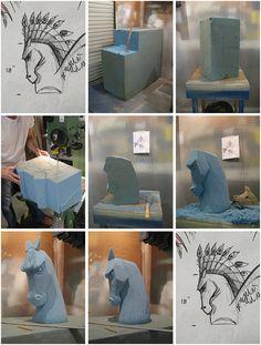 Styrofoam Sculpters | The foam sculpting process