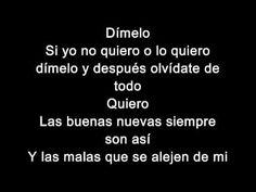 Enrique Iglesias- Dimelo (Lyrics- Letras)