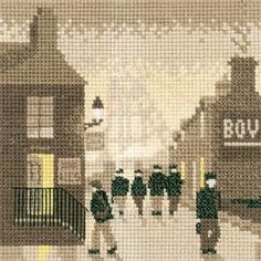 Late Shift - Sepia Cross Stitch