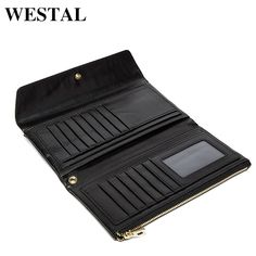 men navy WESTAL Sheepskin leather women wallets Vintage genuine leather wallet for women Lambskin leather purse men wallet clutch Bags *** AliExpress Affiliate's buyable pin. Details on product can be viewed on www.aliexpress.com by clicking the image