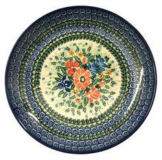 Unikat/Signature Polish Pottery Stoneware Dinner Plate - U2546 - Maria Starzyk