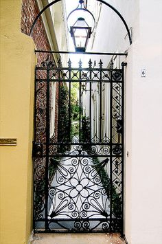 Charleston SC known for its beautiful architectures,gardens, gates and fences
