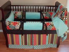 Clementine Baby Bedding...I really like these colors!