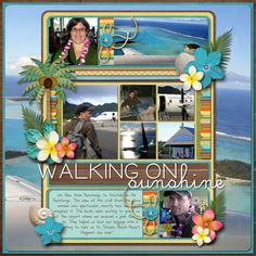 #papercraft #scrapbook #layout.   Walking on sunshine
