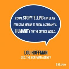 #Visual #storytelling helps build humanity for companies. We absolutely agree! #PR #tip