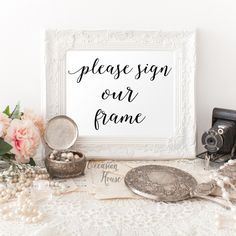Please Sign Our Frame xWedding Sign, 8x10 Printable Wedding Guest Book sign, guest book print, Instant Download, PF2 by OccasionHouse on Etsy