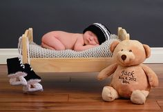 Newborn Photography  Love this with the hockey skates