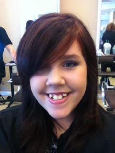 Love this photo! Dorothy Merrill rocks it! Black hair with red hightlights DottiesSalon.com  www.styleseat.com/DorothyMerrill facebook.com/dottiessalon
