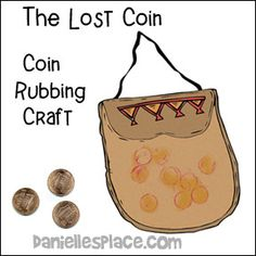 The Lost Coin - Coin Rubbing Craft from www.daniellesplace.com