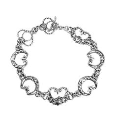 Carolyn Pollack Jewelry | American West Sterling Silver Horseshoe Toggle Bracelet