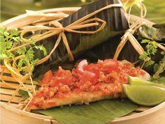 Grilled Sea Bass in Banana Leaf Wrap