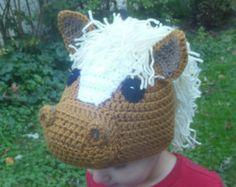 Crochet Horse Hat, Childs costume hat, photo prop