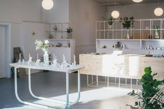OLO scents modern showroom and sniff-ary, Milk Milk Lemonade, in Portland, OR.