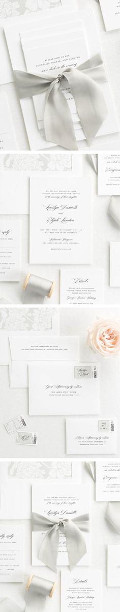 The Kaitlyn wedding invitation collection is perfect for any exquisite wedding.
