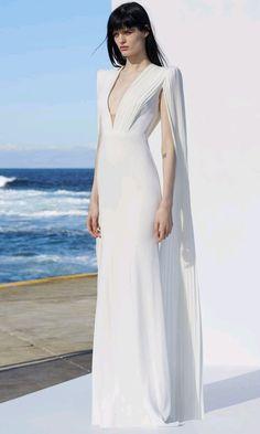 7296b801c87 Don t Forget Me White Extra Long Batwing Sleeve Pleated Chiffon Nude Mesh  Plunge V Neck Mermaid Bandage Maxi Dress