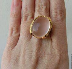 Кольца ручной работы. Заказать 18 р-р кольцо розовый кварц серебро 925 золото…