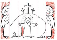 Plantilla angelito resurrección Preschool Crafts, Easter Crafts, Crafts For Kids, Bible Activities For Kids, Religion Catolica, Catholic Crafts, Bible Crafts, Bible Stories, Kirchen