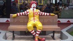 Ronald McDonald Statue Bears Full Brunt Of Teenagers' Mockery