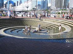 Darling Harbour: Inverted fountain  #Sydney #Australia--- Been to this exact place...