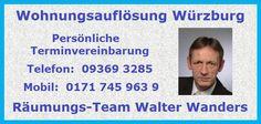 Wohnungsauflösung Haushaltsauflösung Entrümpelung Würzburg