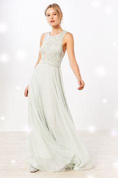 Kimchi Blue Alexandra Embellished Babydoll Maxi Dress