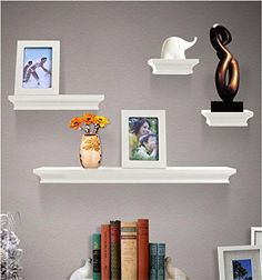 Shelving Solution 6 Pieces Wall Shelf Set White >>> Want additional info? Click on the image. (This is an affiliate link and I receive a commission for the sales)