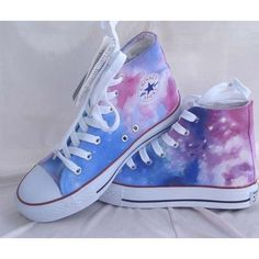 Custom Converse Galaxy Converse Sneakers Hand-Painted On Converse Shoes Canvas…