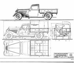 Mercedes-Benz 170V Pickup blueprint